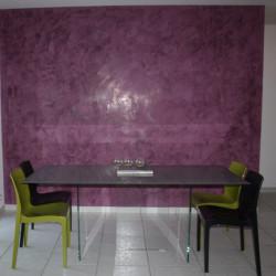 Réalisation d'un Stuc grasselo violet