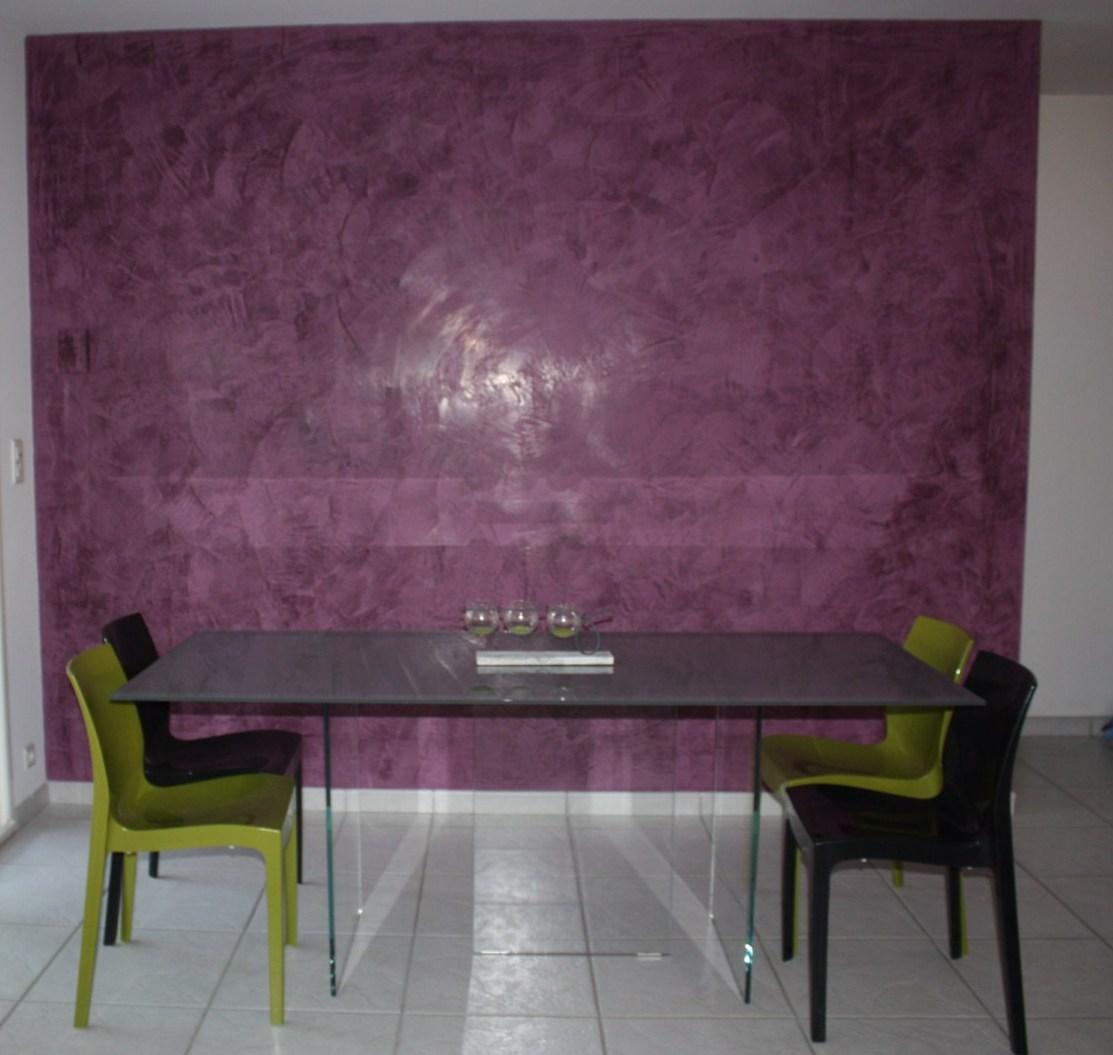 R alisation d un stuc grasselo violet a fleur de chaux for Maison en stuc