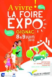 A Fleur de Chaux à la Foire Expo de Gignac les 8 & 9 Juin 2013 dans badigeons de chaux affiche-ok-foire2013-204x300