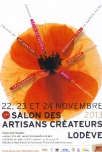 Salon des Artisans Créateurs de Lodève, 22, 23 et 24 Novembre 2013 dans NOUVEAUTES salon-de-lodeve-201x300