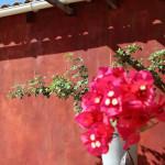 Une façade patinée dans des tons de rouge