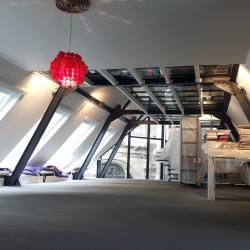 Un loft à Paris – Sol en béton ciré