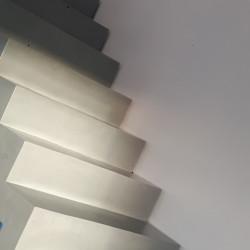 Escalier maçonné en béton ciré